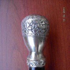 Antigüedades: BASTÓN DE PLATA. Lote 26128342