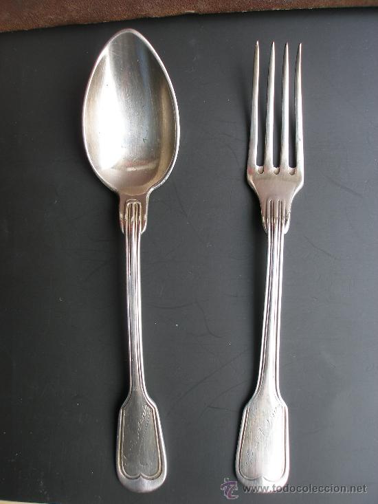 Antiguos cubiertos de ni o de plata meneses 60g comprar antig edades varias en todocoleccion - Precio cuberteria plata ...