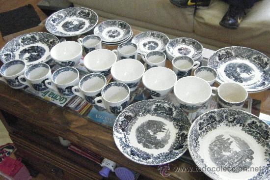 La cartuja de sevilla vajilla antigua 31 piez comprar cer mica y porcelana de la cartuja - Vajilla cartuja de sevilla ...