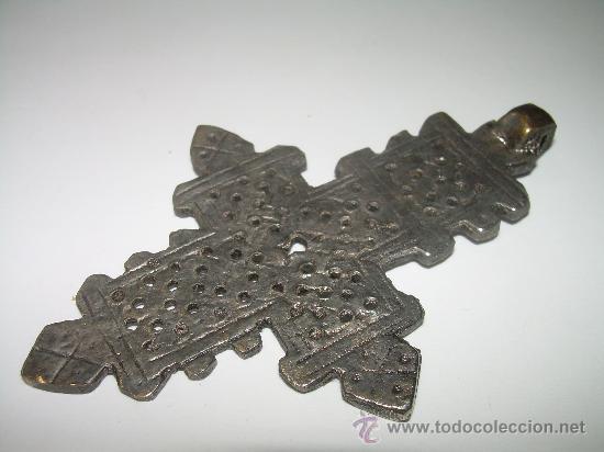 Antigüedades: ANTIGUA CRUZ ALEACION DE PLATA. - Foto 2 - 129400380