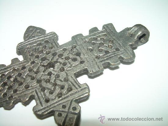 Antigüedades: ANTIGUA CRUZ ALEACION DE PLATA. - Foto 3 - 129400380