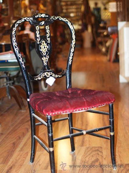 Antigua silla de madera tipo andaluz en color n comprar - Sillas de madera antiguas ...
