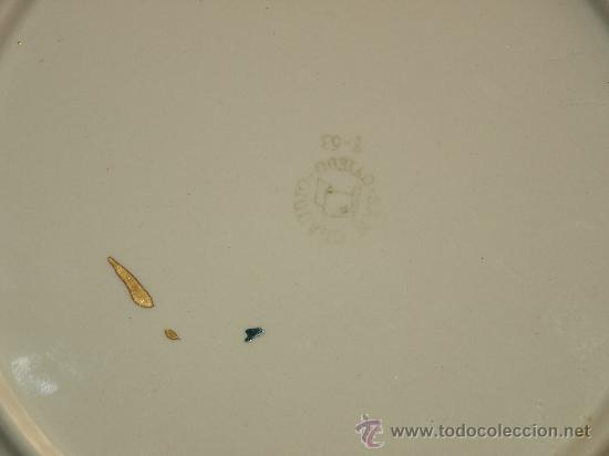 Antigüedades: PLATO LLANO SAN CLAUDIO. - Foto 5 - 26233832