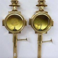 Antigüedades: PAREJA DE FAROLES DE METAL. Lote 26263524