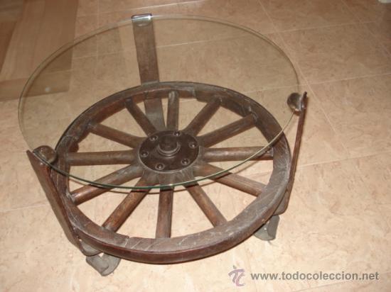Mesa decorada con una rueda de carro antigua comprar mesas antiguas en todocoleccion 26744224 - Ruedas de mesa ...