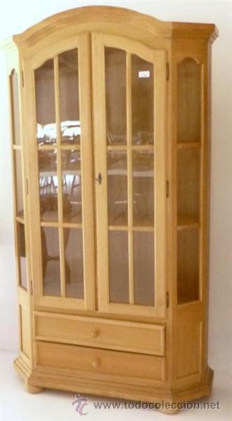 Antigüedades: vitrina de madera chapeada en pino - Foto 3 - 26277033