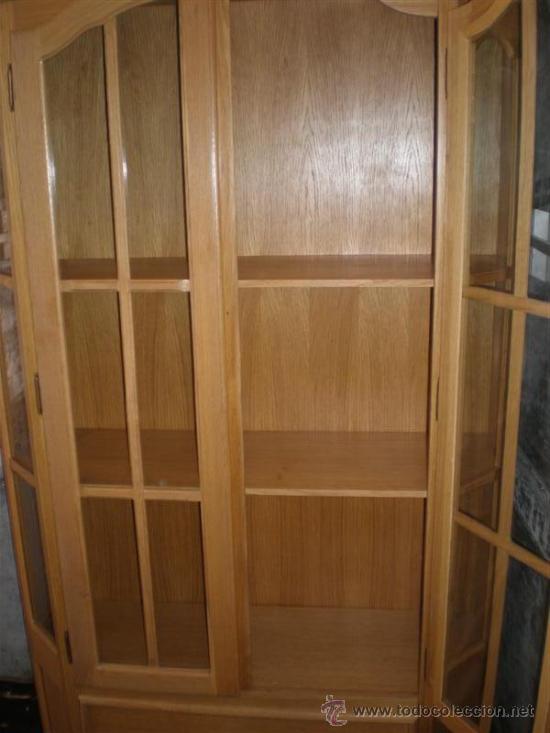 Antigüedades: vitrina de madera chapeada en pino - Foto 4 - 26277033