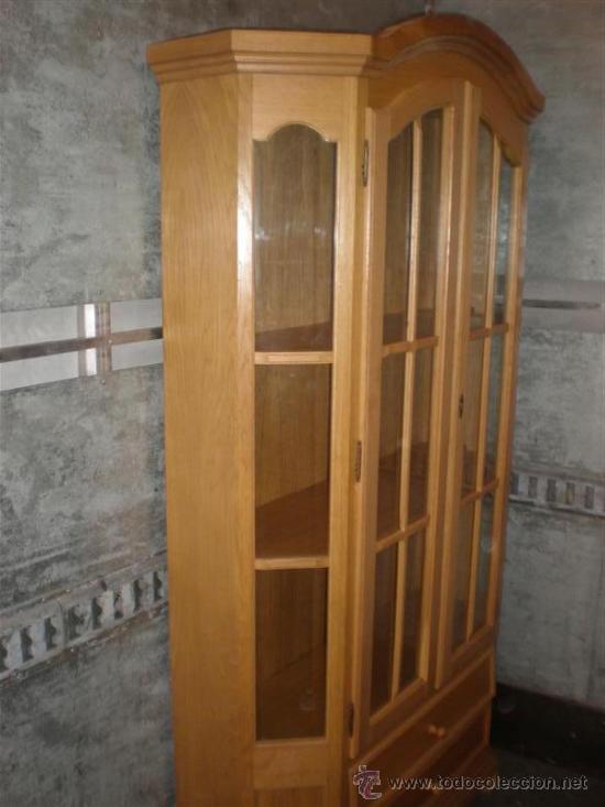 Antigüedades: vitrina de madera chapeada en pino - Foto 5 - 26277033