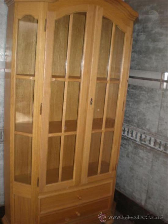 Antigüedades: vitrina de madera chapeada en pino - Foto 6 - 26277033