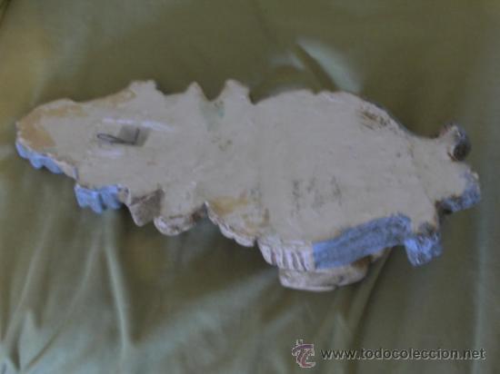 Antigüedades: Mensula de escayola, decorada. medida 40 x 18 cm. - Foto 2 - 26280661
