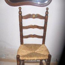 Antigüedades: SILLA ANDALUZA DE ENEA, DECORADA FLOR. . Lote 36362104