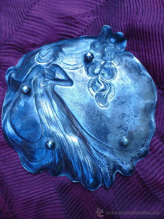 Antigüedades: CENTRO DE MESA MODERNISTA FIRMADO POR MENESES - Foto 2 - 26280675
