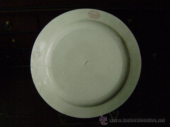 Antigüedades: BANDEJA DE CARTAGENA EN COLOR ROSA - Foto 2 - 26316930