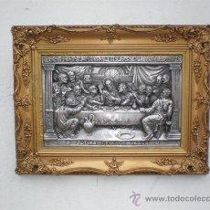 Antigüedades: MARCO DORADO CON LA SANTACENA EN CALAMINA. Lote 26320697