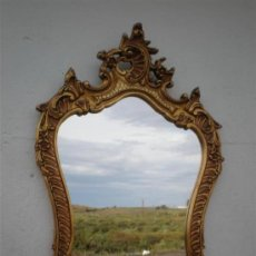 Antigüedades: ESPEJO DE MADERA DORADA. Lote 26324123