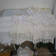 Antigüedades: 7 PIEZAS DE PAÑOS HECHO A MANO. Lote 26353395