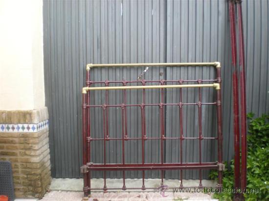 Cama de hierro antigua 120cm comprar camas antiguas en todocoleccion 26353536 - Camas de hierro antiguas ...