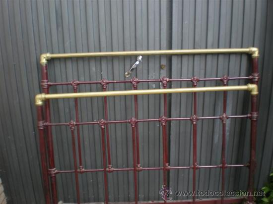 Antigüedades: cama de hierro antigua 120cm. - Foto 2 - 26353536