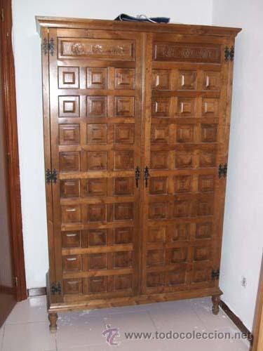 Armario estilo castellano con cuarterones y gr comprar - Muebles castellanos antiguos ...