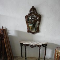 Antigüedades: CONSOLA CON ESPEJO. Lote 26372835