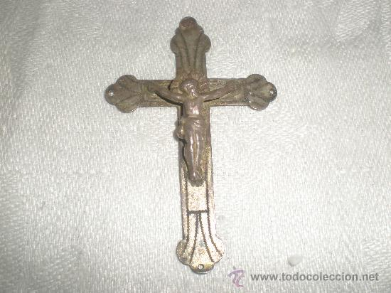 CRUZ DE METAL (Antigüedades - Religiosas - Cruces Antiguas)