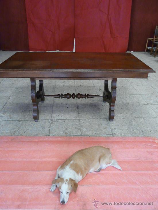 MESA PATA LIRA (Antigüedades - Muebles Antiguos - Mesas Antiguas)
