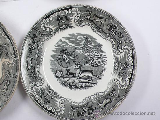Antigüedades: 4 platos de Cartagena, tamaño: 22 cm de diámetro, . - Foto 4 - 26384684