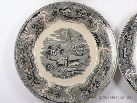 Antigüedades: 4 platos de Cartagena, tamaño: 22 cm de diámetro, . - Foto 7 - 26384684