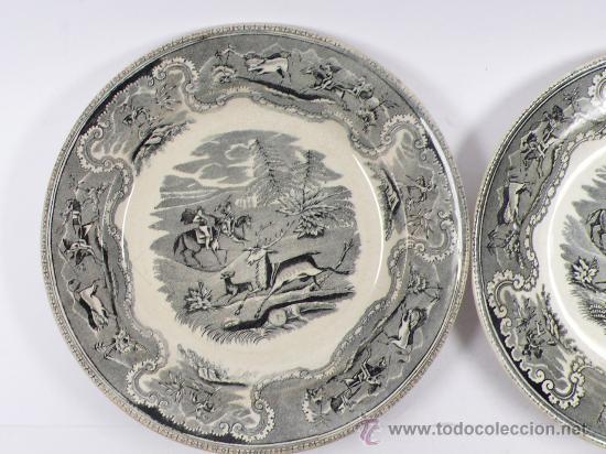 Antigüedades: 4 platos de Cartagena, tamaño: 22 cm de diámetro, . - Foto 6 - 26384684