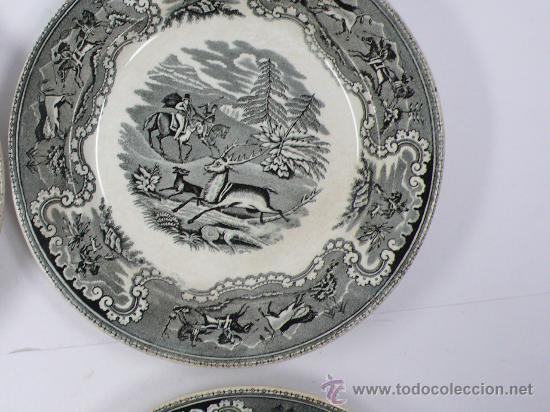 Antigüedades: 4 platos de Cartagena, tamaño: 22 cm de diámetro, . - Foto 5 - 26384684