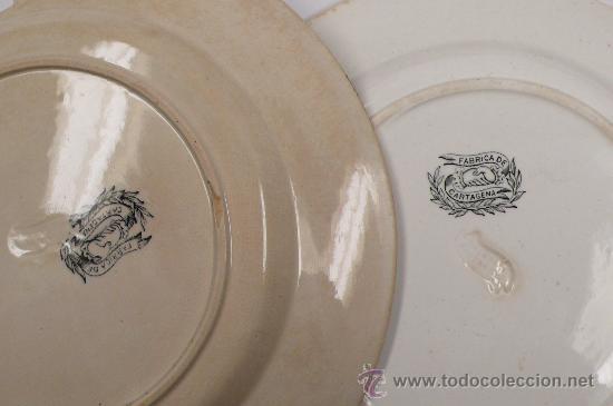 Antigüedades: 4 platos de Cartagena, tamaño: 22 cm de diámetro, . - Foto 9 - 26384684