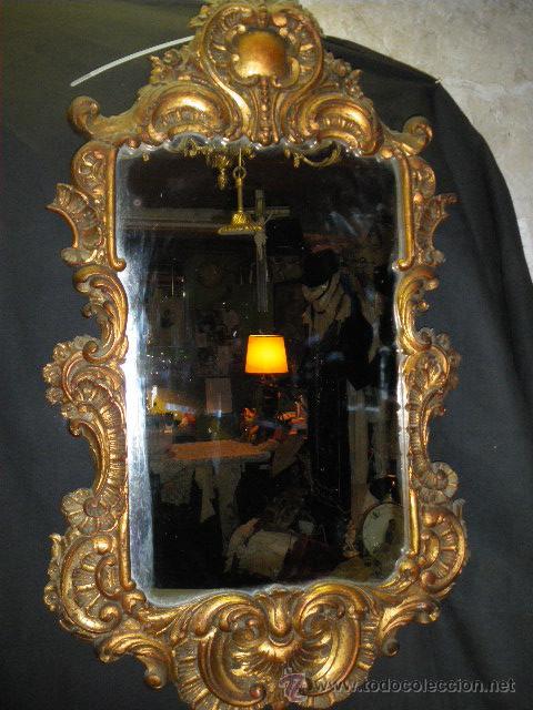Antiguo espejo cornucopia de pared madera con comprar - Espejos antiguos de pared ...