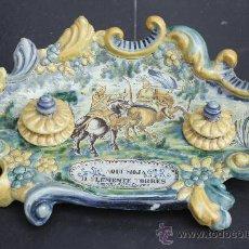 Antigüedades: GRAN ESCRIBANÍA DE TALAVERA, JULIÁN MONTEMAYOR-HENCHE, 1925. SELLADO, FIRMADO Y NUMERADO EN BASE. . Lote 26418535