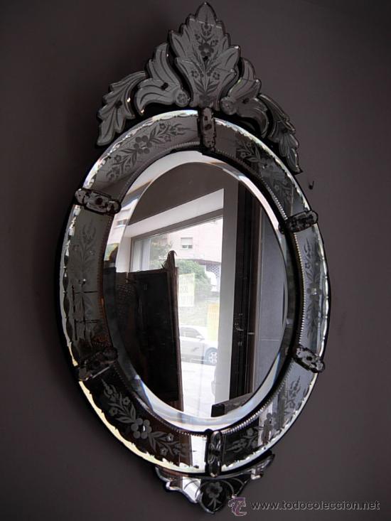Precioso espejo veneciano antiguo vendido en venta - Espejo veneciano antiguo ...