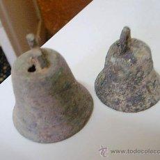 Antigüedades - 2 campanas de bronce muy antiguas - 26489246