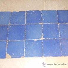 Antigüedades: 15 AZULEJOS AZULES MANISES SIGLO XIX. Lote 26494497