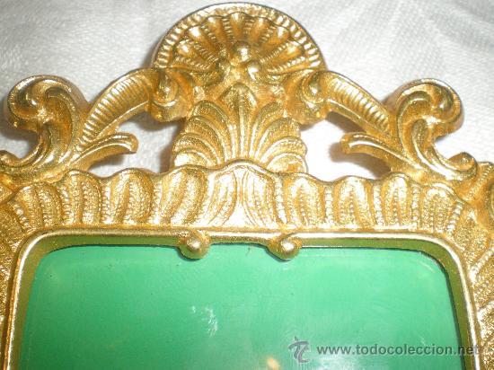 Antigüedades: marco para fotos en bronce dorado - Foto 3 - 26549509