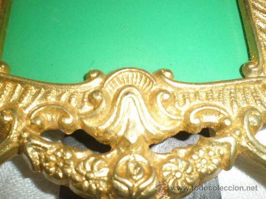 Antigüedades: marco para fotos en bronce dorado - Foto 2 - 26549509