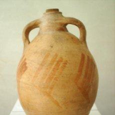 Antigüedades: ANTIGUO CANTARO CERAMICA DE HUESA DEL COMUN - BAJO ARAGON - TERUEL. Lote 26522204