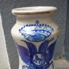 Antigüedades: ALBARELO DE CERÁMICA DE TRIANA. Lote 28258340