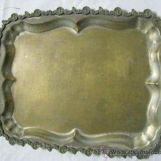 Antigüedades: ANTIGUA BANDEJA DE ALPACA PLATEADA. Lote 26537046