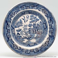 Antigüedades: PLATO INGLES WILLOW PATTERN S XIX. Lote 26544313