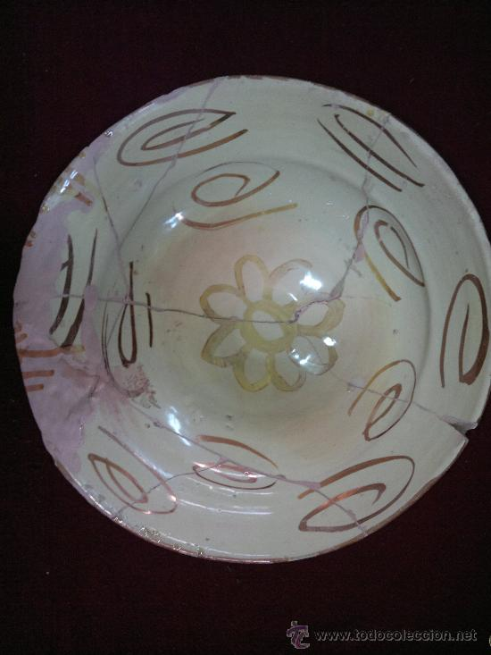 Antigüedades: PLATO S XVIII REFLEJOS MANISES - Foto 2 - 26546427