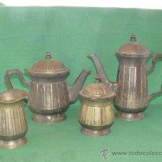 Antigüedades: ANTIGUO SERVICIO DE CAFE EN CUATRO PIEZAS - AÑOS 1940´S -. Lote 26550916