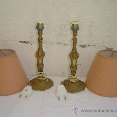 Antigüedades: 2 LAMPARILLAS DE BRONCE. Lote 26556513
