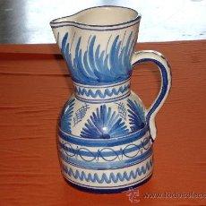 Antigüedades: JARRA DE CERAMICA EN COLOR AZUL Y BLANCO. Lote 26573827