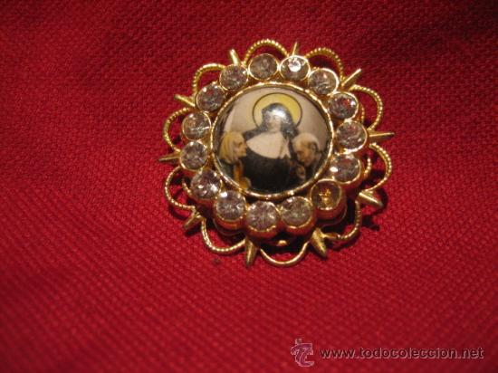 BONITO BROCHE CON LA IMAGEN DE SANTA TERESA DE JESUS (Antigüedades - Religiosas - Orfebrería Antigua)