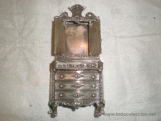 Antigüedades: mueble en plata de miniatura - Foto 3 - 26666564
