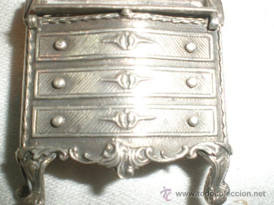 Antigüedades: mueble en plata de miniatura - Foto 2 - 26666564