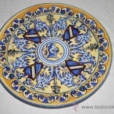 Antigüedades: BONITO PLATO DE PRINCIPIOS S.XX MOTIVO CABALLERESCO. Lote 26741387